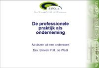 Download de presentatie met adviezen uit het rapport