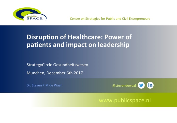 IndustryForum Healthcare 'Power of patients and impact on