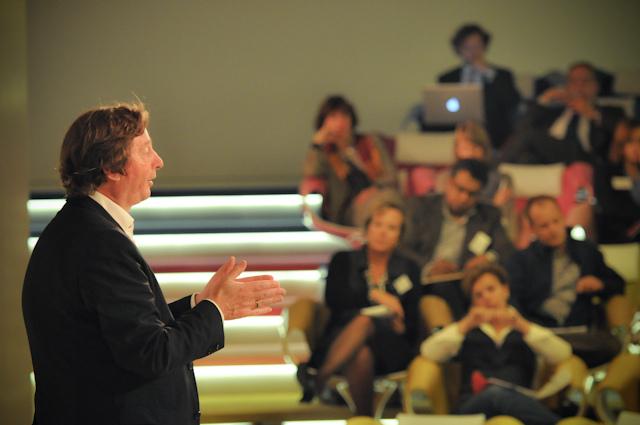 Steven de Waal tijdens een CJG-masterclass in Utrecht