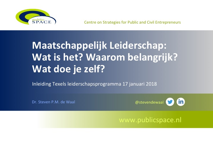 Maatschappelijk Leiderschap op Texel
